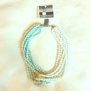 Anthropologie Double Beaded Twist Necklace
